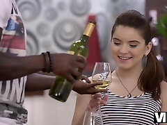 VIP4K.Evelina Darling meets ebony boy and cant wait to...