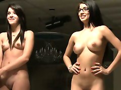 Two sexy teens strip at college hazing