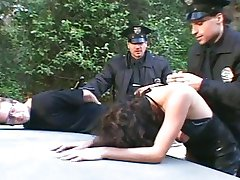 Guy Watching GF fucked by Two Cops !