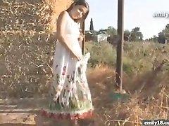 Teenage girl on the farm