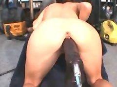 Big Dildo Machine Fuck