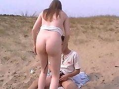 Amatör anal sex på stranden