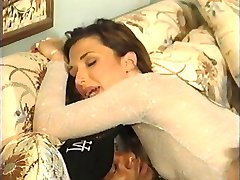 British slut Sabrina Johnson in an interracial FMM threesome