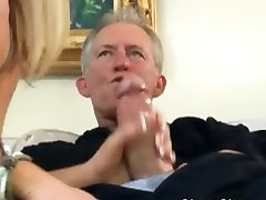 Babysitter takes care of boss's cock