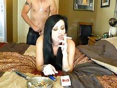 rökning sexe brune fru