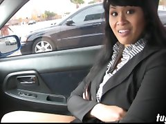 Asian Dragonlily jerk off encouragement pervert in car busted jacking