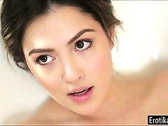 Cassie Laine and Aidra Fox lick in tub