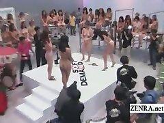 Subtitled crazy Japanese ENF rock paper scissors game