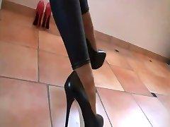 Neue 7 Inch High Heels und Leggings