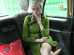 Short haired amateur fucked in the ass by fake taxi driver