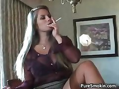 Slutty blond bimbo stripping part6