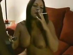 Big Ass Riding Smoking doggy.flv