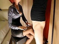Harness Heels Nylons &  Satin Mistress
