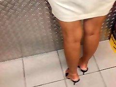 Girl in high heel Mules