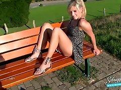 Public Internal Cumshot Extreme Risky! Blonde German Schnuggie91