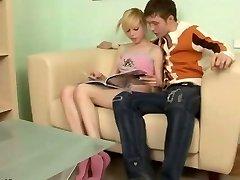 Russian blonde teenie Alisa