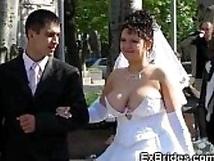 Real Brides Show Their Beavers!