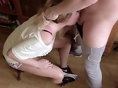 Extreme Gagging Sloppy Throatfuck. Lot Of Saliva And Cum On Nike Sneakers