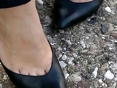 shoeplay in classic stilettos compilation