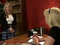 Tranny screws a schoolgirl