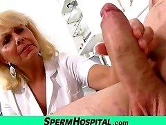 Wicked lady doctor Koko cfnm hospital hand-job