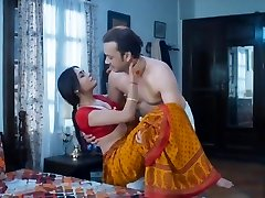 Wife homemade bang-out very hot red saree full romance penetrate mastram web series