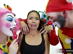 TwistedVisual.Com - Asian MILF Gangbanged and Dual Penetrated by Clowns