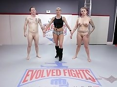 'Tori Avano nude grappling fight and face shag at Evolved Fights'