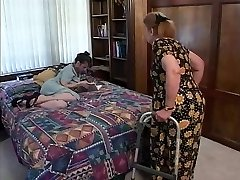 Mature brown-haired indulges in hot oral sex