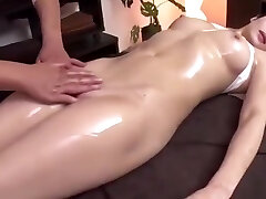 Hot Japanese Woman Gets Fingered during Message