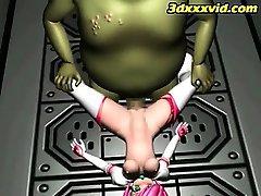3D-Teen Natural Slave! -  Escape - Monsters Fuck