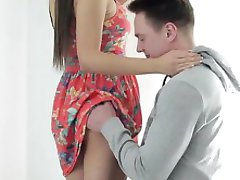 Horny housewife close up creampie