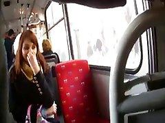 flashing dick in bus