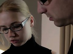 She Is Nerdy - Studying and fucking with nerdy teeny