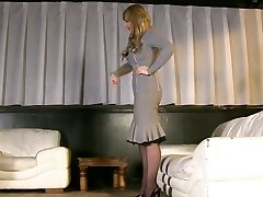 Fetish high heels, nylon