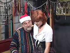 Hot, mature redhead gets her ass tortured in the dungeon