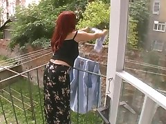 Sexy Mature Wife Attacked While Hanging Laundry - Cireman