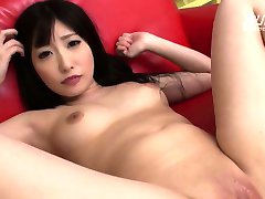Asian babe toyed until she squirts