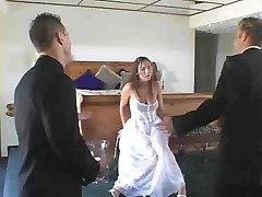 bride fucks threesome by jackass