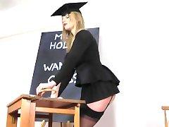 Holly Kiss Jerk Off class for Bills Honeys