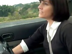 Fantastic MILF Masturbation in the car