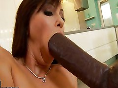 big black cock and toy in her ass