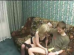 Russian Mature Loves Young Cock