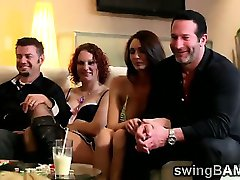 Hotties make a show in front of their men in XXX reality show