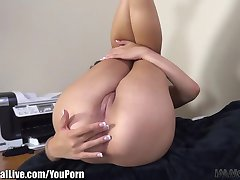 ImmoralLive BRUNETTES SQUIRTING in an INTERRACIAL FOURSOME!
