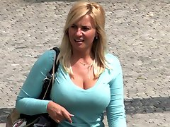 Blonde Milf With Huge Boobs