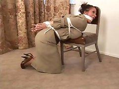 School Teacher tied