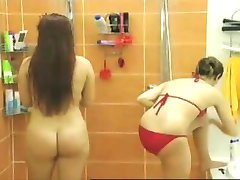 Naked Asses Part 2:  In the Shower