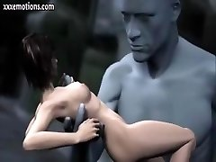 3D אנימציה מותק מקבל נגע ואת אצבעות ענק