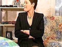 Fur Covered french milf gets her ass plumbed